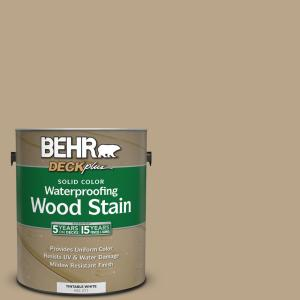 Behr Deckplus 1 Gal 710d 4 Harvest Brown Solid Color Waterproofing Exterior Wood Stain 21101 The Home Depot