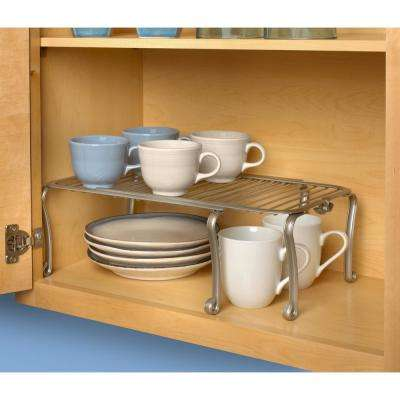 Somerset 5.5 in. x 13.5 in. x 10.5 in. Steel Expandable Shelf in Satin Nickel