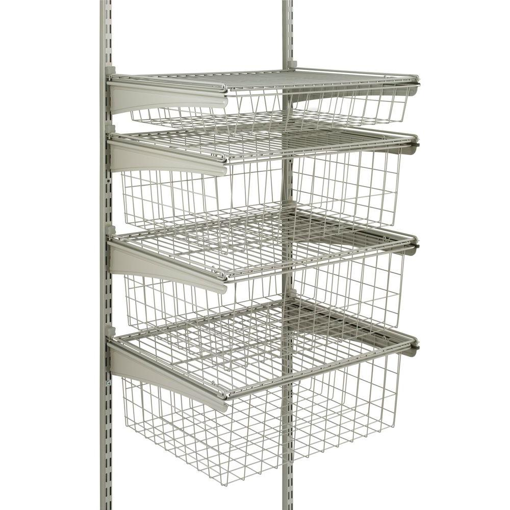 Superieur Closetmaid ShelfTrack 4 Drawer Kit In Nickel