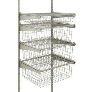 shelftrack 4drawer kit in nickel