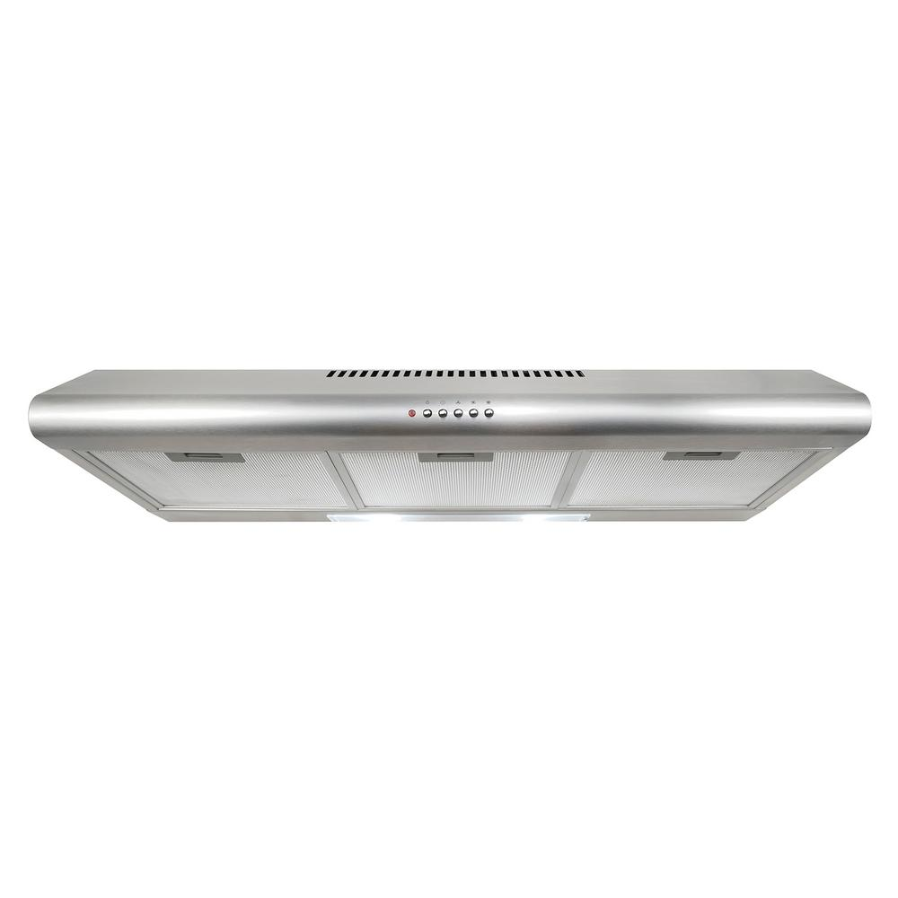36 in. Ducted Under Cabinet Range Hood in Stainless Steel with