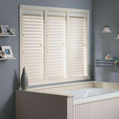 White Bali Routless Faux Wood Blinds Blinds The Home Depot