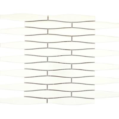 Vogue Biscuit Convex Matte 10.87 in. x 11.89 in. x 8 mm Ceramic Mesh-Mounted Mosaic Tile (0.9 sq. ft.)