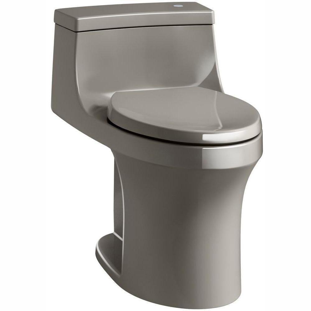 San Souci Touchless Comfort Height 1-Piece 1.28 GPF Single Flush Elongated Toilet with AquaPiston Flush in Cashmere