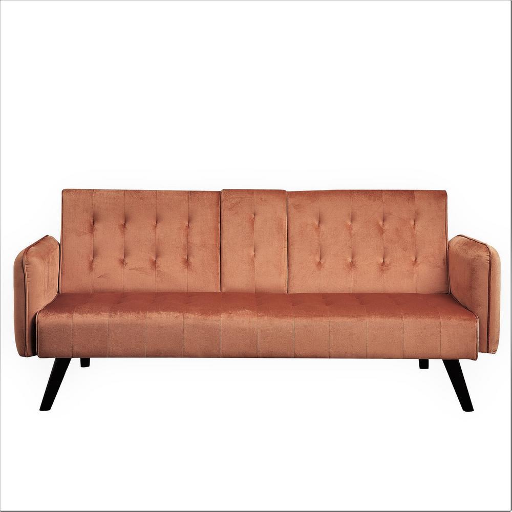 Us Pride Furniture Cricklade Cocoa Brown Sofa Bed Sleeper