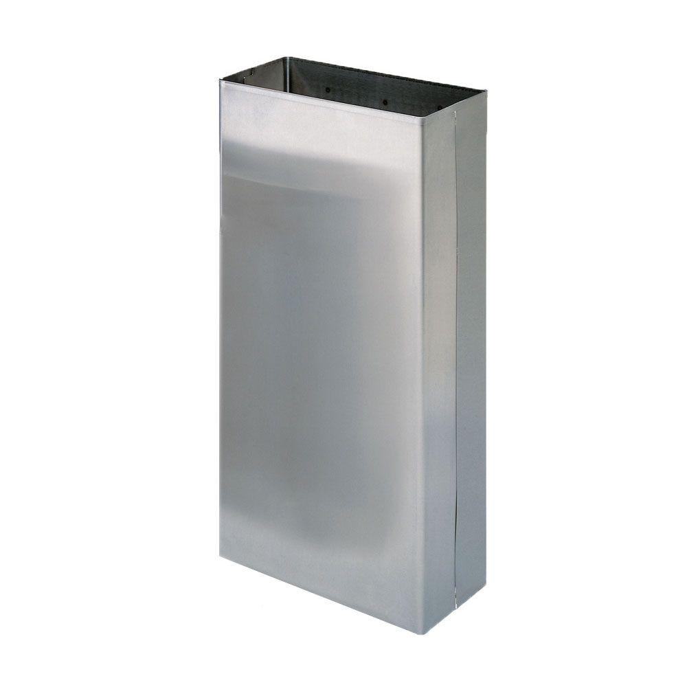Stainless Solutions Wall Mounted Large Towel Waste Bin In Stainless Steel L  BIN   The Home Depot