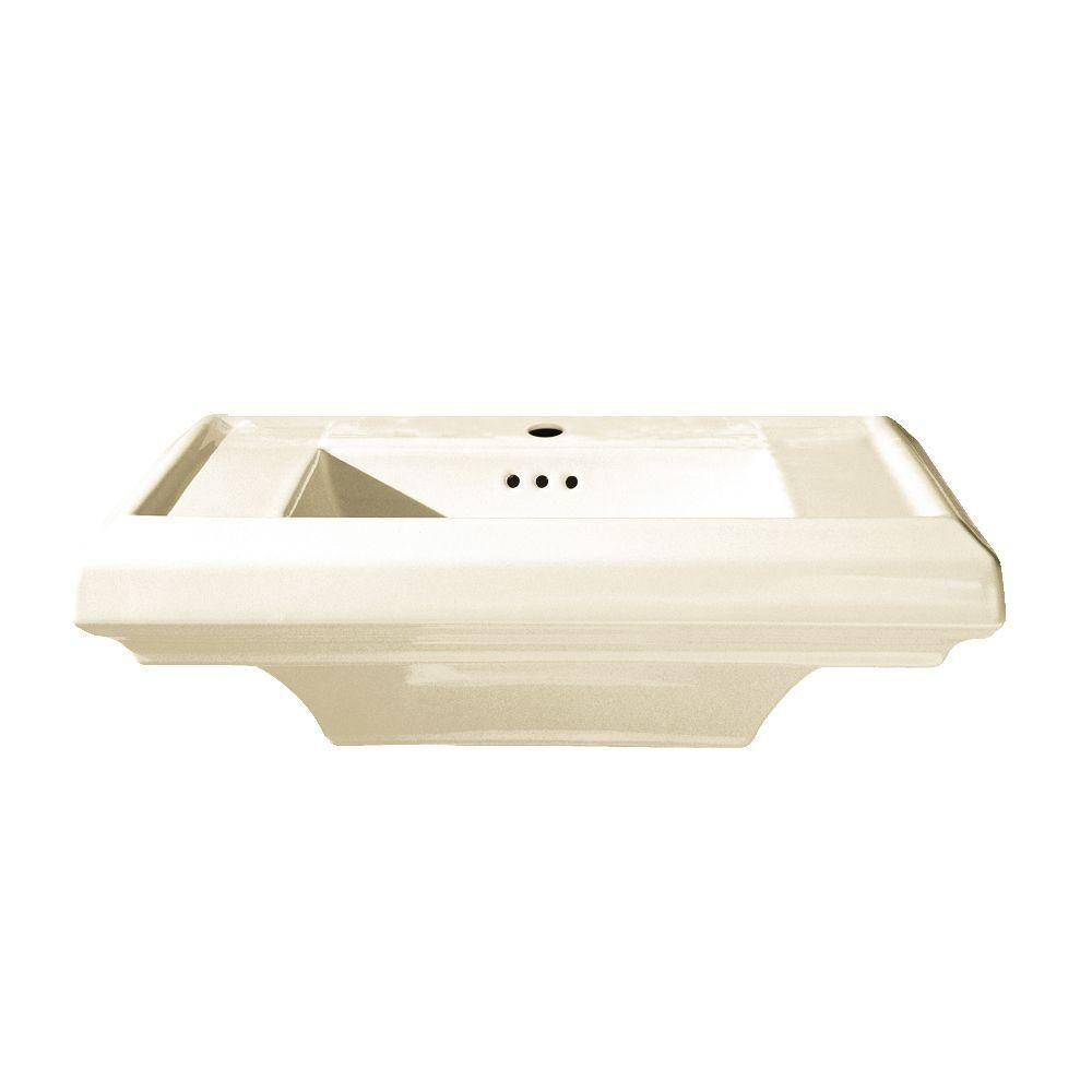 Town Square 6.5 in. Pedestal Sink Basin with Single Hole in
