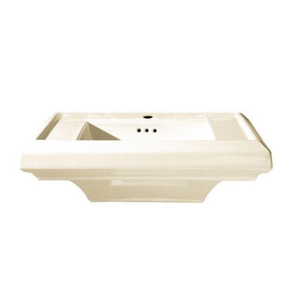 American Standard Town Square 6.5 in. Pedestal Sink Basin with Single Hole in Linen