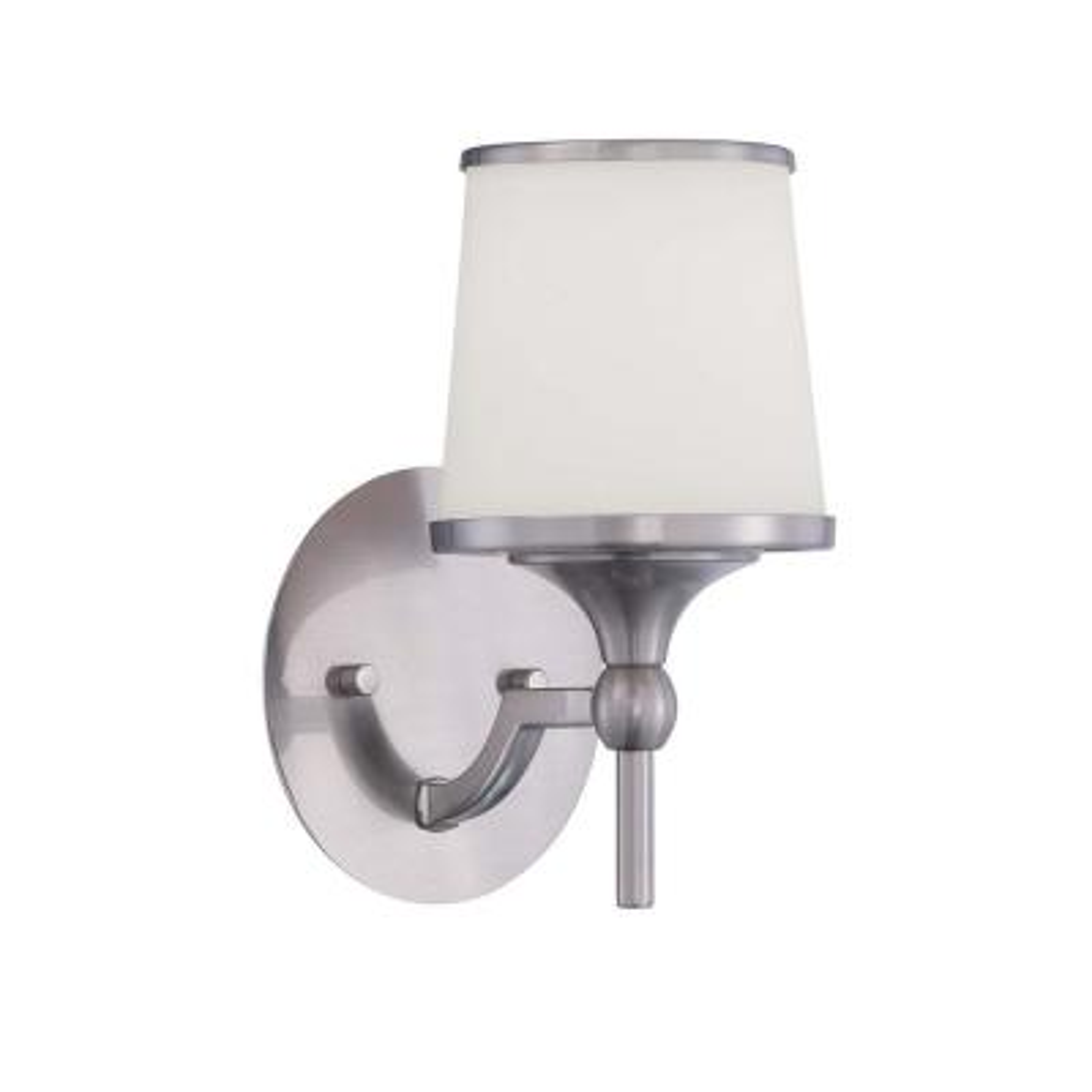Satin 1-Light Wall Satin Nickel Incandecent Sconce