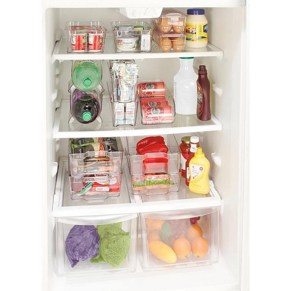 Kitchen Details Clear Medium Refrigerator Shelf Organizer
