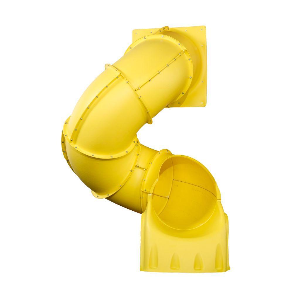 swing-n-slide playsets 5 ft  yellow turbo tube slide-ne 4692-y