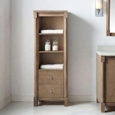 Breton 22 in W x 22 in. D x 60 in. H Freestanding Tall side unit in Almond Toffee