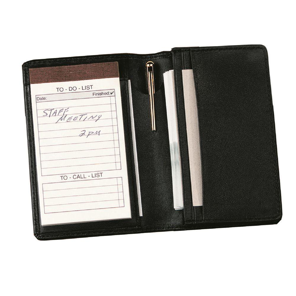 Royce Executive Note Jotter and Business Card Organizer in Genuine ...