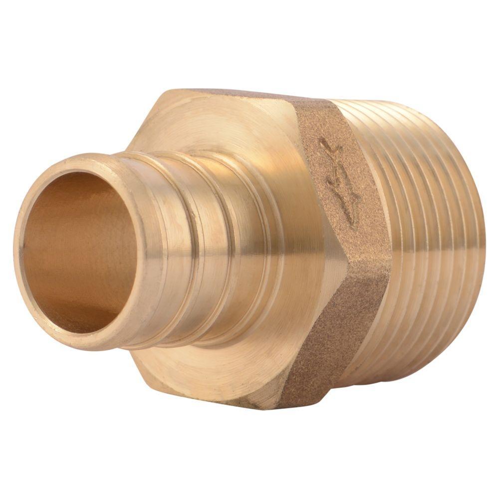 Sharkbite in brass pex barb male pipe thread