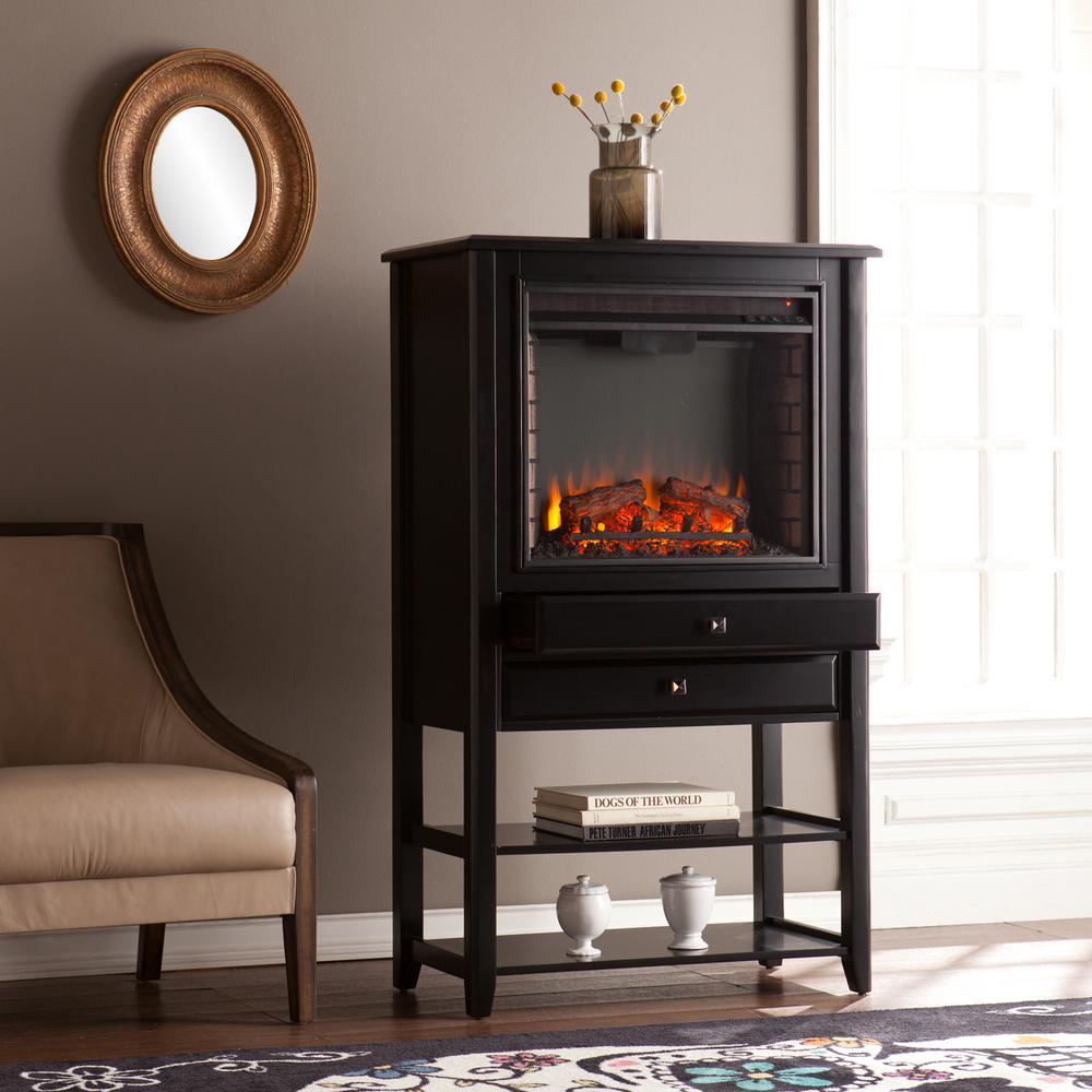 Southern enterprises hanover in w corner for Building a corner fireplace