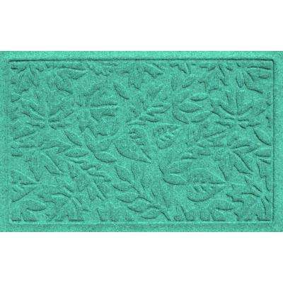 Aqua Shield Fall Day Aquamarine 17.5 in. x 26.5 in. Door Mat