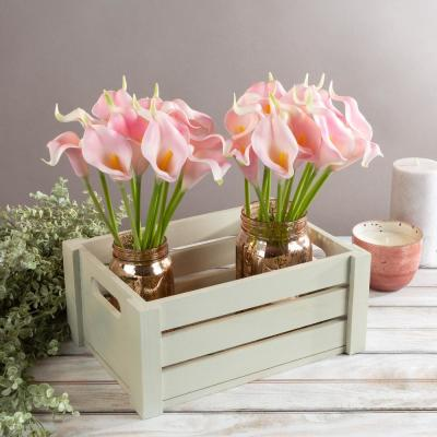 Coral Pink Artificial Calla-Lily Flowers with Stems (24-Pack)