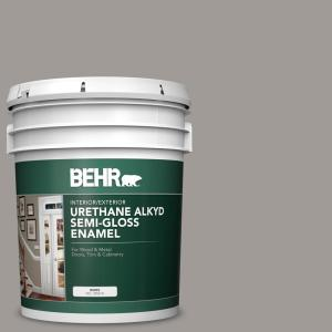 Behr Ultra 5 Gal Mq2 56 Abbey Stone Semi Gloss Enamel Interior Paint And Primer In One 375405 The Home Depot