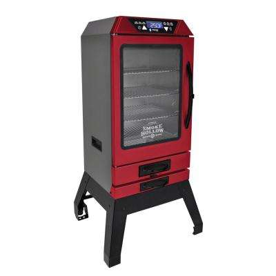 Smoke-Tronix 40 in. Electric Smoker with Bluetooth, Stand Included, in Red