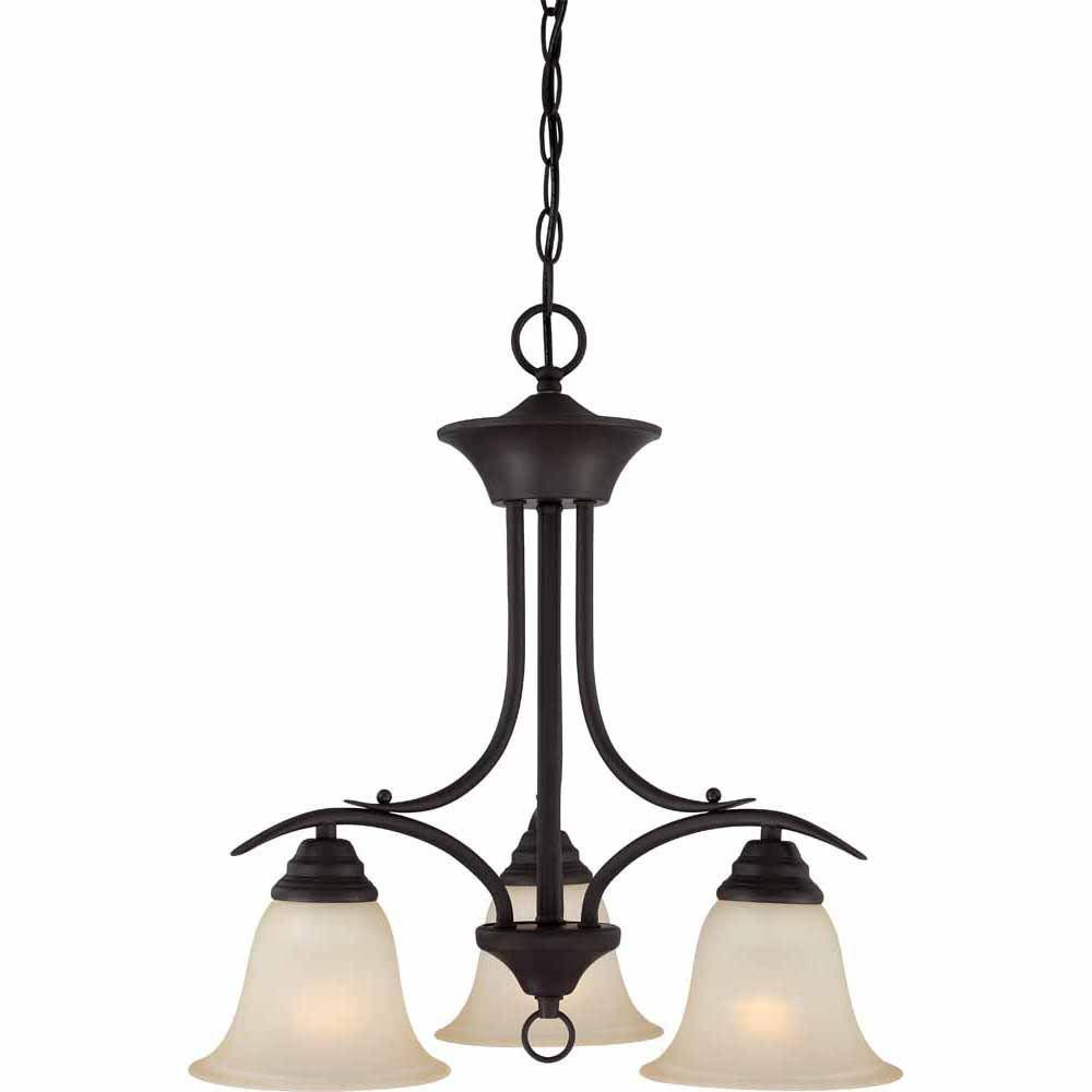 Lenor 3-Light Antique Bronze Incandescent Ceiling Chandelier