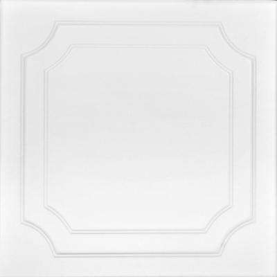 Virginian 1.6 ft. x 1.6 ft. Foam Glue-up Ceiling Tile in Ultra Pure White