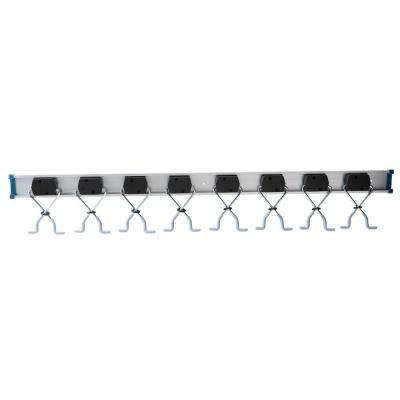 36 in Adjustable Aluminum X-Clamp Wall Mount Storage Tool Organizer