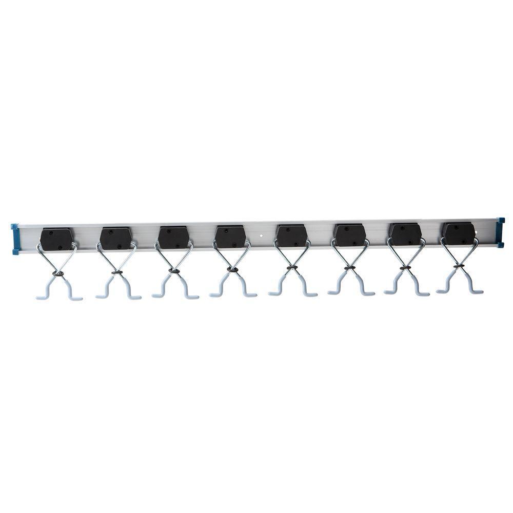 36 in Adjustable Aluminum X-Clamp Wall Mount Storage Tool Organizer