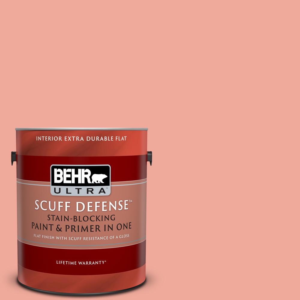 Behr Ultra 1 Gal 200d 4 Powdered Petals Extra Durable Flat Interior Paint And Primer In One 172401 The Home Depot