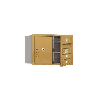 3700 Series 20 in. 5 Door High Unit Gold Private Front Loading 4C Horizontal Mailbox with 3 MB1 Doors/1 PL5