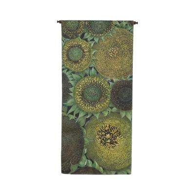 "Green and Yellow ""Sunflower"" Wall Tapestry"