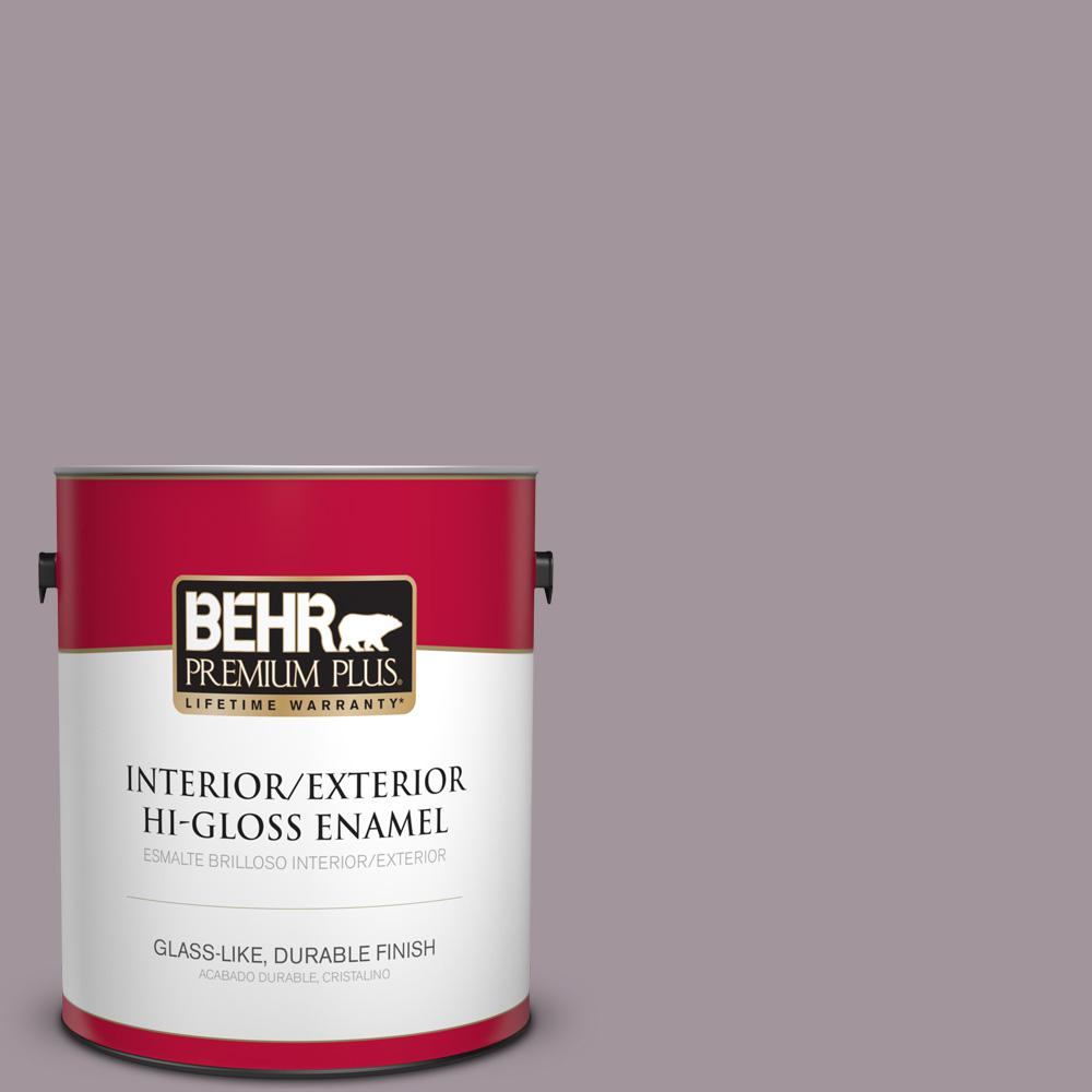 1 gal. #PPU17-13 Heather Plume Hi-Gloss Enamel Interior/Exterior Paint