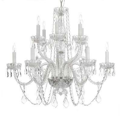 Crystal chandeliers lighting the home depot venetian style 12 light crystal chandelier aloadofball Gallery