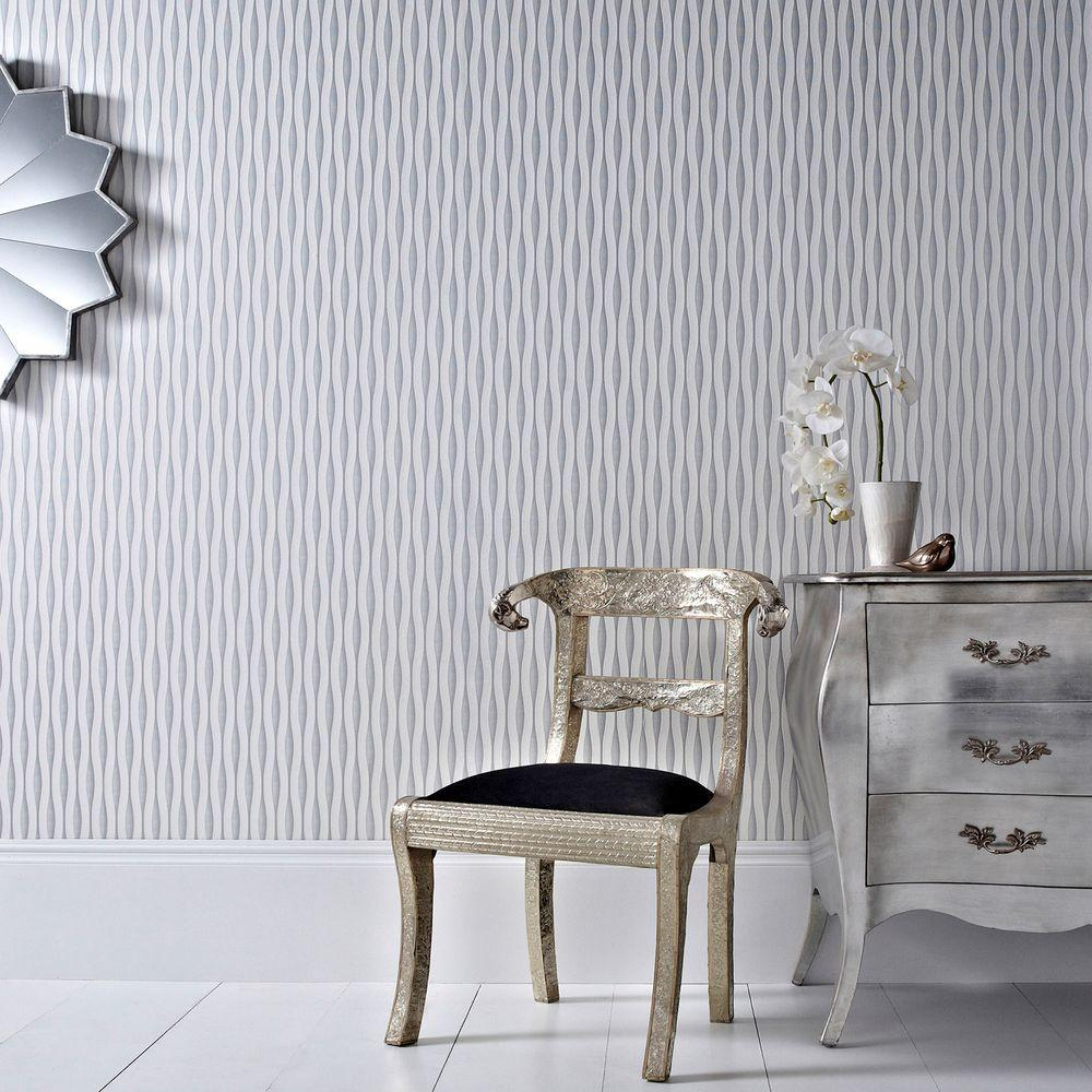 Graham & Brown 56 sq. ft. Lucid White Wallpaper