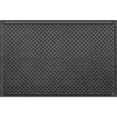 Gems Charcoal 24 in x 36 in Polypropylene Door Mat