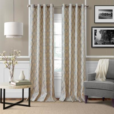Zelda Metallic Geometric Window Curtain