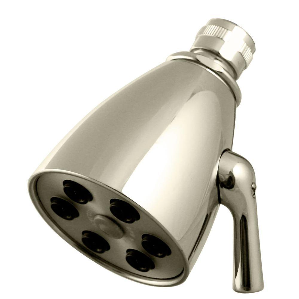 6-Spray 2-1/4 in. Adjustable Showerhead in Polished Nickel