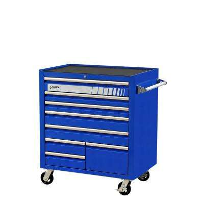 41 in. 8-Drawer Premium Utility Cart in Blue