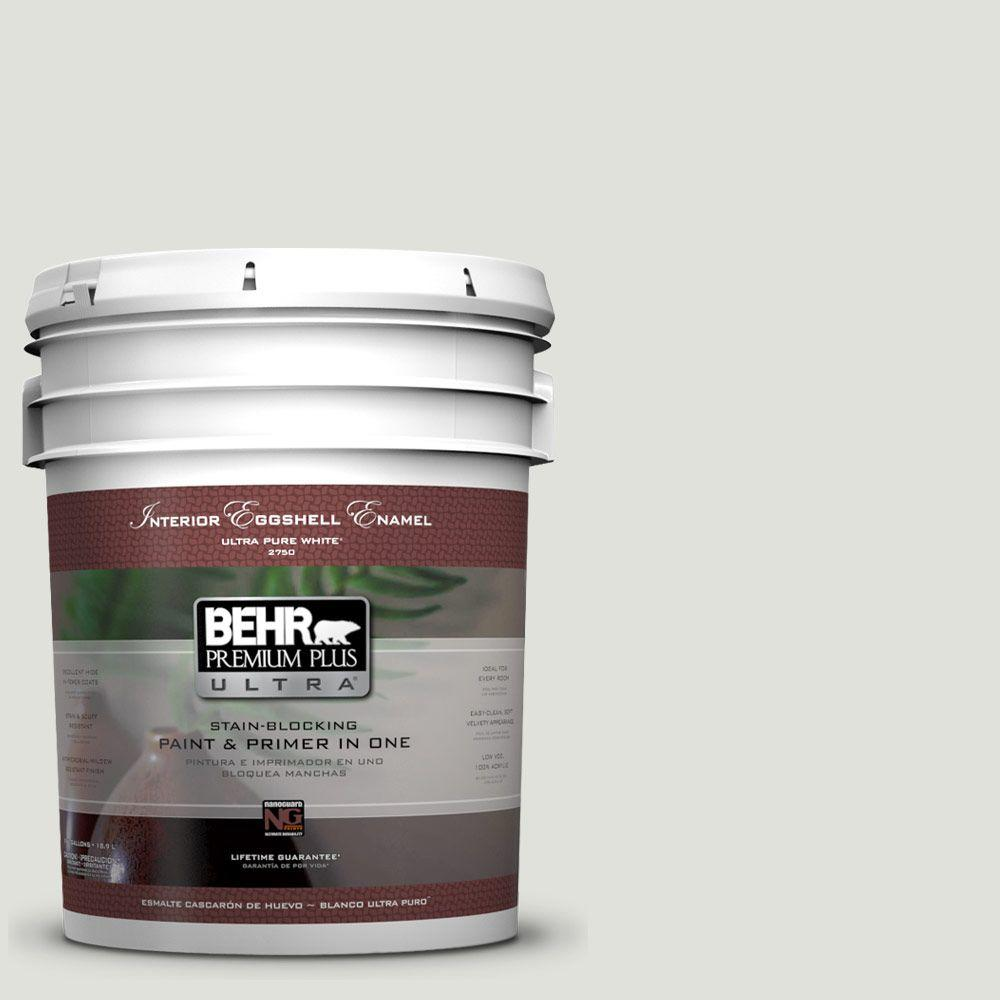 BEHR Premium Plus Ultra 5-gal. #GR-W6 Winds Breath Eggshell Enamel Interior Paint