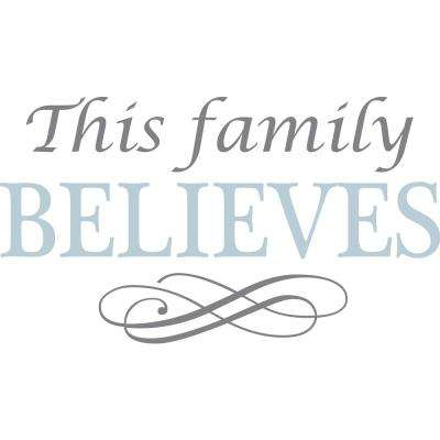 Blue Believe Wall Quote Decal