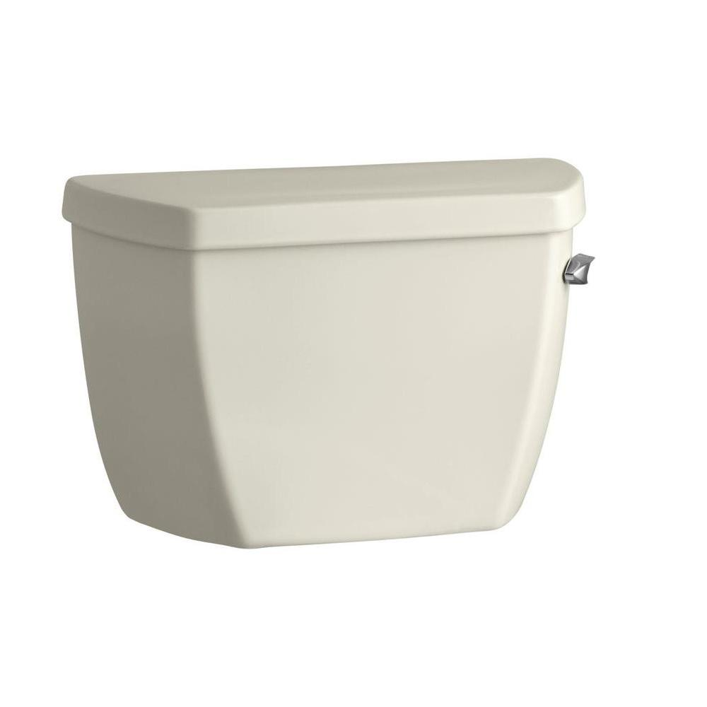 KOHLER Highline 1.0 GPF Single Flush Toilet Tank Only in Biscuit