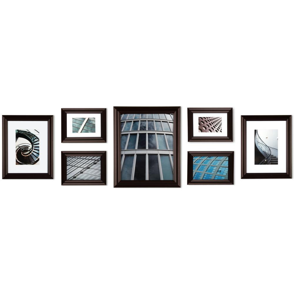 Pinnacle 7-Opening 8 in. x 10 in. Wall Collage Picture Frame ...
