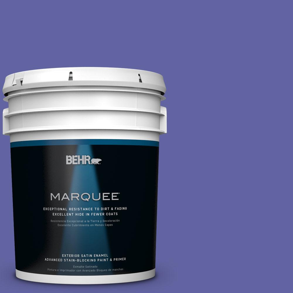 BEHR MARQUEE 5-gal. #T13-9 Electrify Satin Enamel Exterior Paint