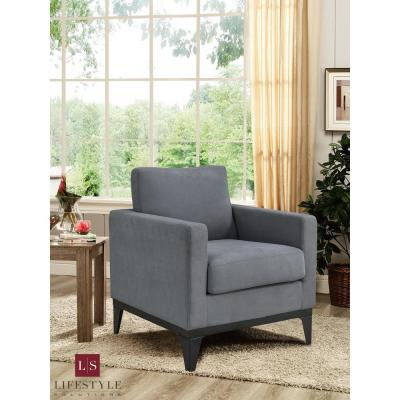 Delray Chair With Hardwood Frame & Quality Fabric, Grey