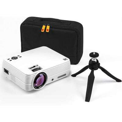 FLIK X7 Home Theater Projector System with Tripod, and Case Included - Compact, Projects Up to 150 in.