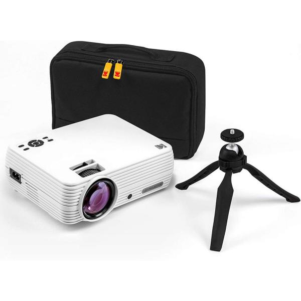 FLIK X7 1280 x 720 LCD Home Theater Projector System with 100 Lumens -Tripod and Case Included -Projects Up to 150 in.
