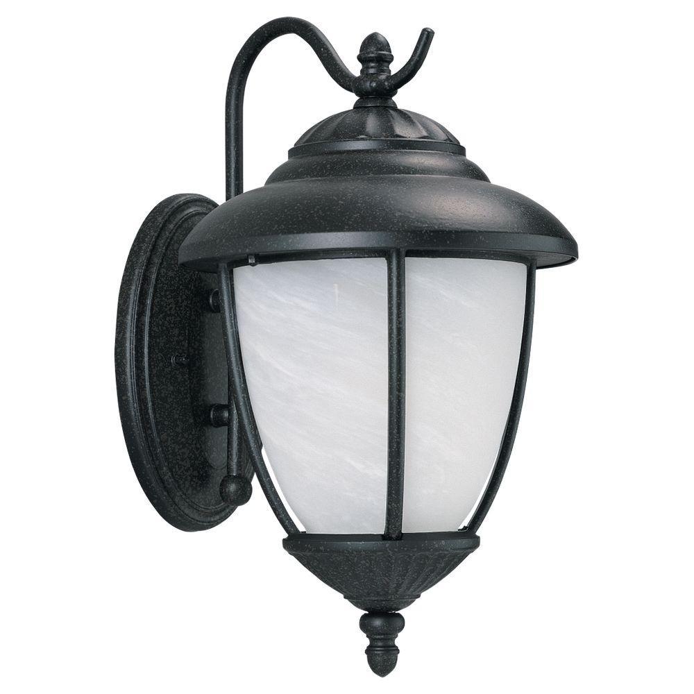 Sea Gull Lighting Yorktown 1-Light Forged Iron Outdoor Wall Fixture