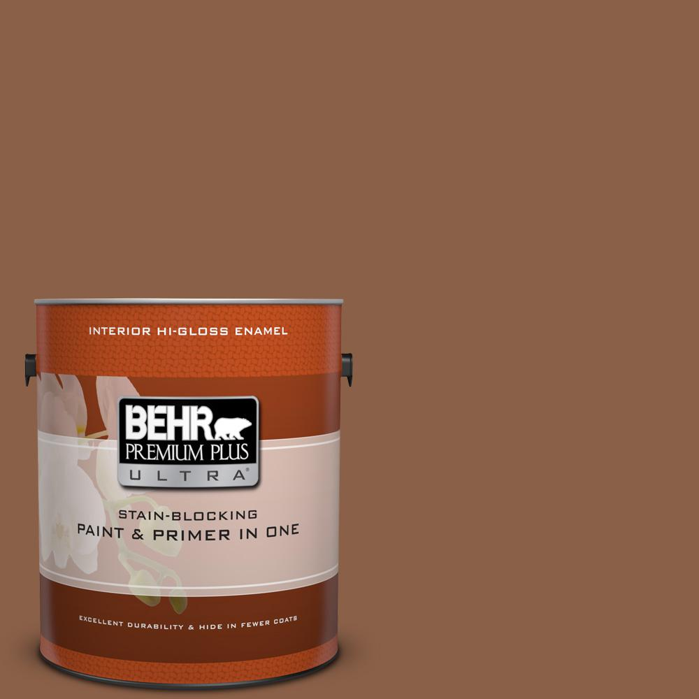 1 gal. #S240-7 Leather Work Hi-Gloss Enamel Interior Paint
