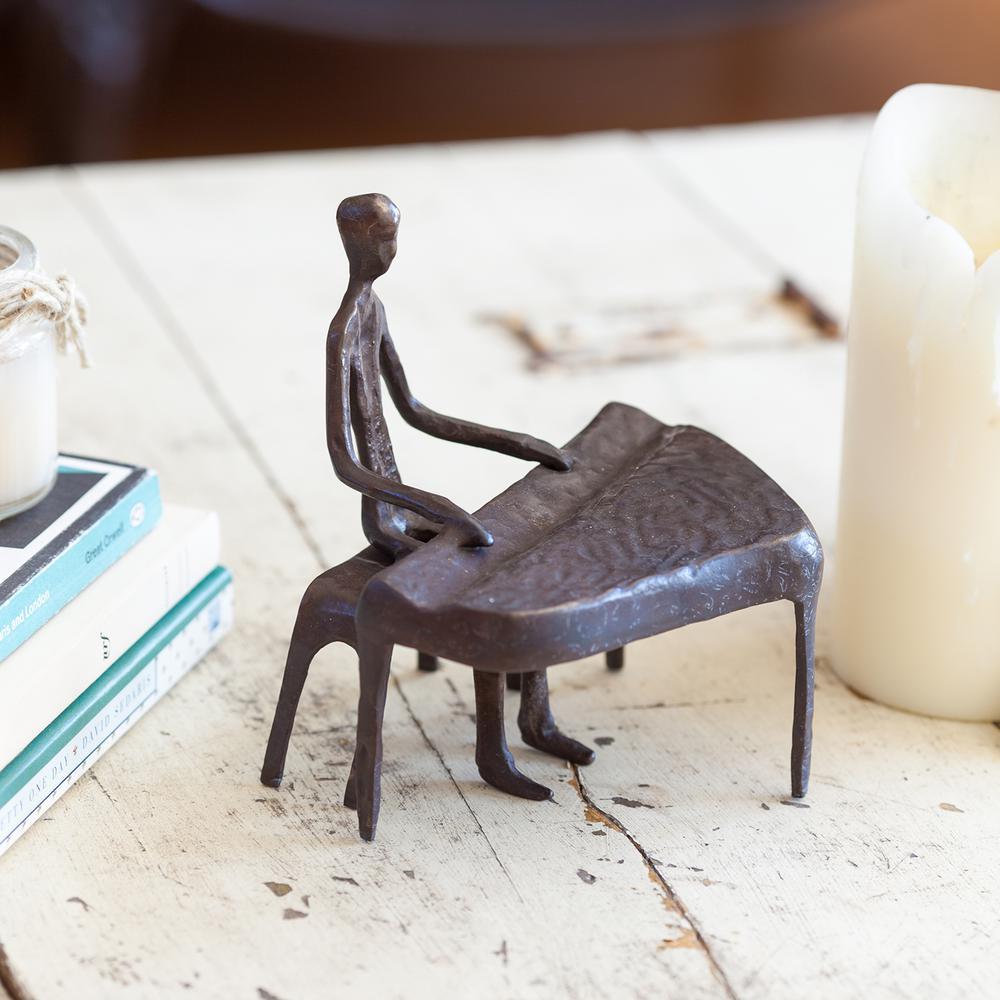 DANYA B. Piano Player Bronze Sculpture