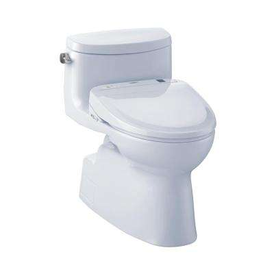 Carolina II Connect+ 1-Piece 1.28 GPF Elongated Toilet with Washlet S300e Bidet Seat and CeFiOntect in Cotton White