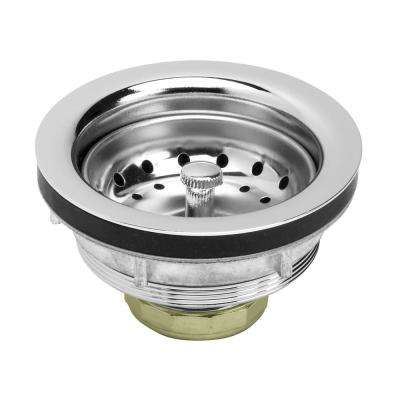 3-1/2 in. - 4 in. Heavy-Duty Kitchen Sink Stainless Steel Drain Assembly with Strainer Basket Stopper